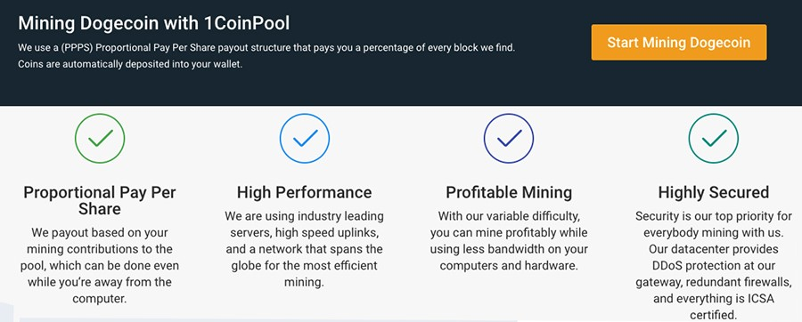 What are the characteristics of 1Coinpool?