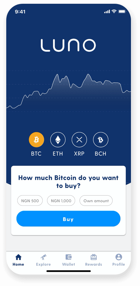 Luno exchange review user interface