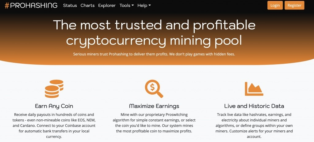 What is the specification of the Prohashing mining pool?