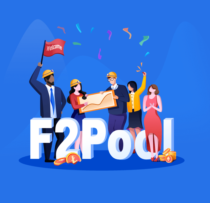 What countries and cryptocurrencies are supporting by the F2pool mining pool